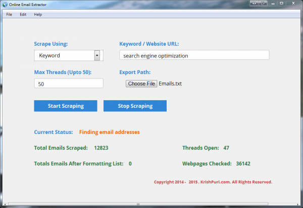 Online Email Extractor