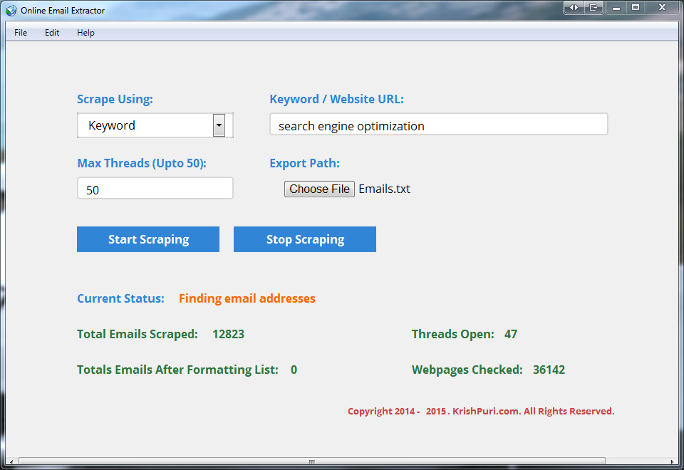 Online Email Extractor - Fast Email Address Collector