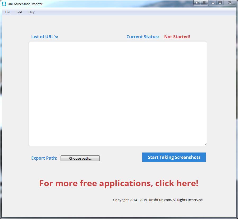 URL Screenshot Exporter